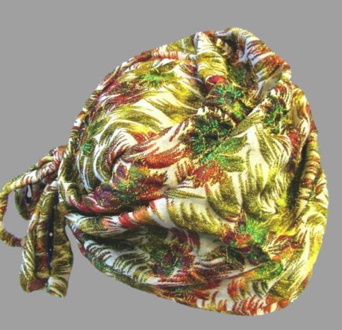 1920s Vintage Metallic Brocade Pleated Tied Cloche Hat by Frank M Benson MINT!