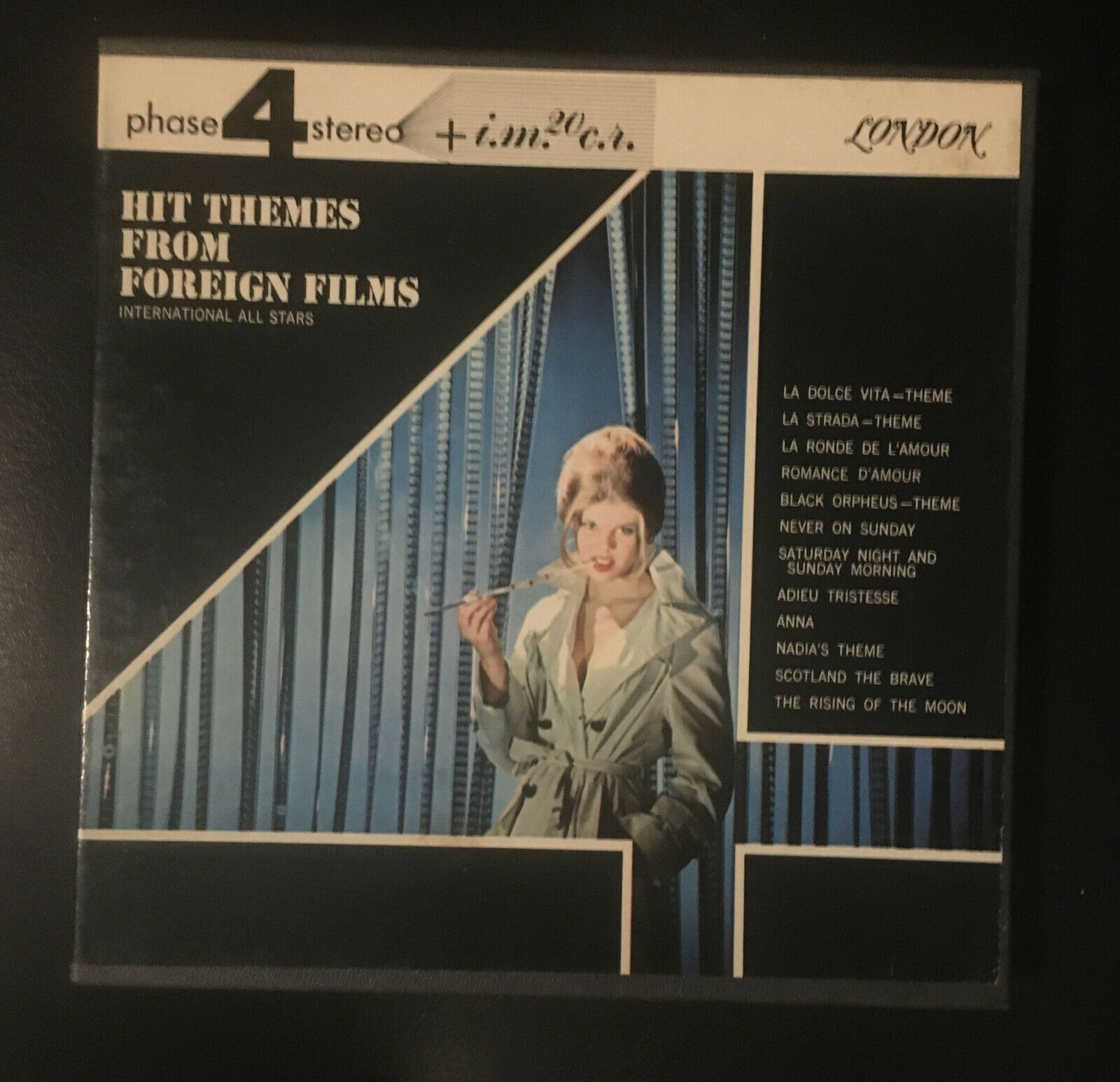 Hit Themes from Foreign Films 7 12 IPS Reel to Reel TAPE 4 TRACK London