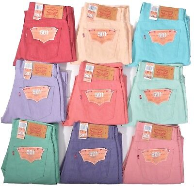 Levis Mens 501 Button Fly Shrink to Fit Denim Jeans Choose Color & Size
