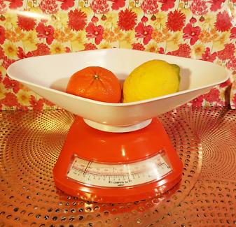 Retro Salter Orange Kitchen Scales Australian