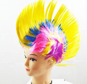 Red And Yellow Mohawk Wigs 62