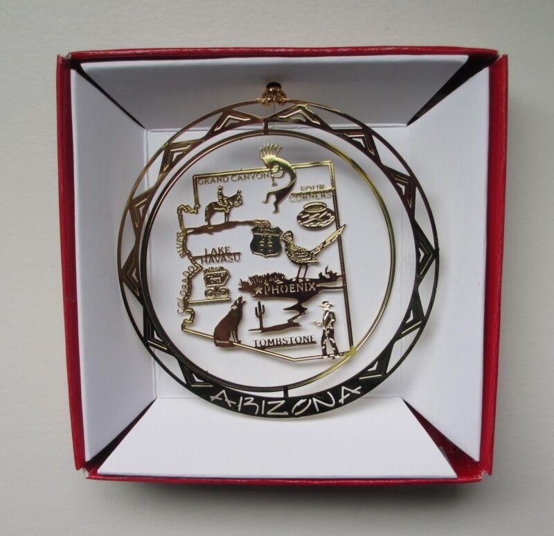 Arizona Ornament Brass State Landmarks Travel Souvenir Gift