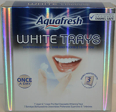 AquaFresh White Trays Once a Day 14 Pre-filled Trays! Teeth Whitening Aqua Fresh on Rummage