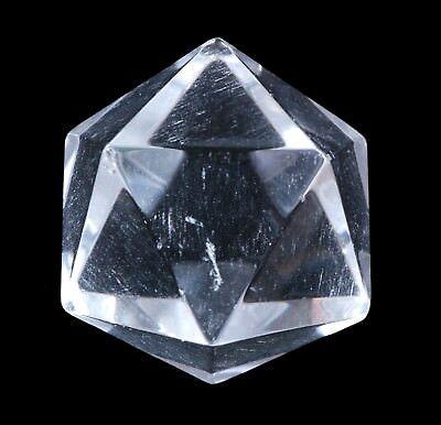 Ikosaeder aus Edelstein Bergkristall geometrische Figur