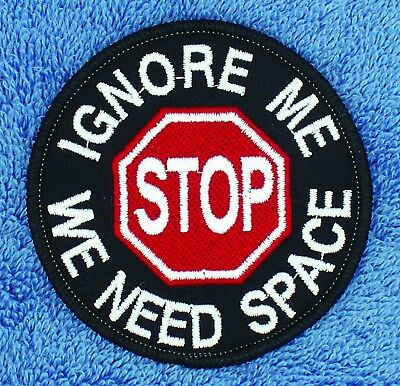Stop Ignore Me We Need Space Service Dog Patch 3  Medical Assistance Danny Luann