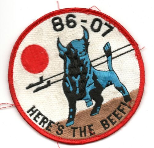 86-07 CLASS USAF PATCH  SALTY WELL USED