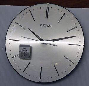 seiko aluminium wall clock chad 11 5 with quiet sweep