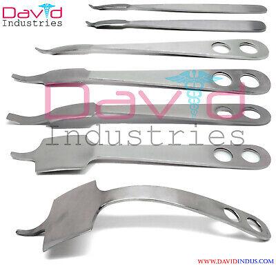 7 Pcs Orthopedic Hohmann Retractor Set Surgical Instruments