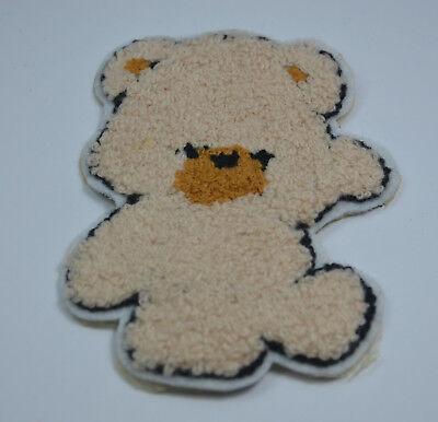 HAPPY TEDDY BEAR WAVING HELLO 4' PLUSH SEW ON  PATCH BADGE EMBROIDERY APPLIQUE Waving Teddy Bear
