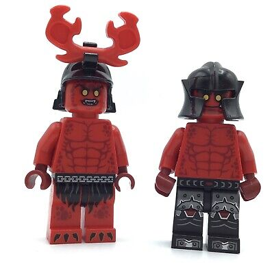 LEGO LOT OF 2 NEXO KNIGHT MINIFIGURES RED DEVIL SOLDIERS CASTLE