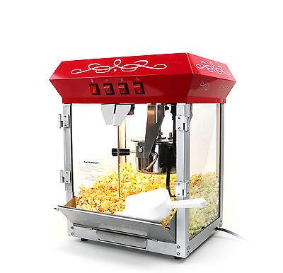 الة صنع الفشار جديد Paramount 6oz Popcorn Maker Machine – New Upgraded 6 oz Hot Oil Popper [Red]