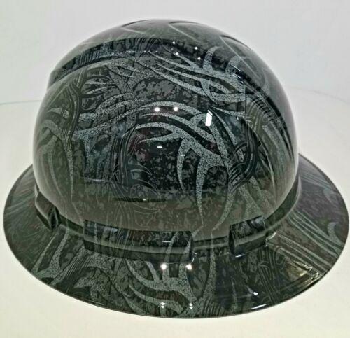 NEW FULL BRIM Hard Hat custom hydro dipped GOLDBERG TRIBAL JACK HAMMER TATTOO 3