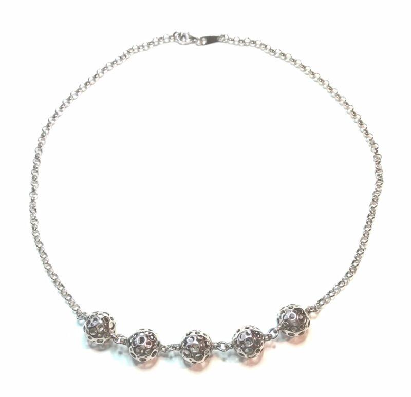 "Liisa Vitali Finland - Beautiful Sterling Silver .925 ""Ladybug"" Necklace"