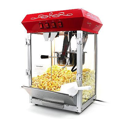 الة صنع الفشار جديد Paramount 8oz Popcorn Maker Machine – New Upgraded 8 oz Hot Oil Popper [Red]