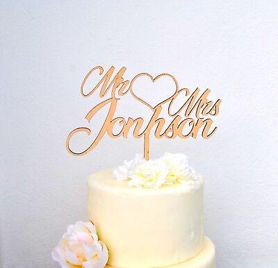 Tortenstecker Holz Hochzeit personalisiert Cake Topper Figur name Blumen mr mrs