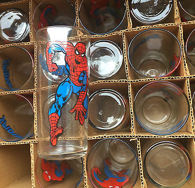 NOS SUPER RARE 1978 Spider-Man 7-11 Promo Drinking Glasses Federal Marvel 1978