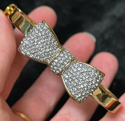 JUICY COUTURE bow crystal bracelet signed
