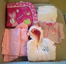 Baby Sleeping Bags, cot sheets, play mat and change table cover Aspendale Gardens Kingston Area Preview