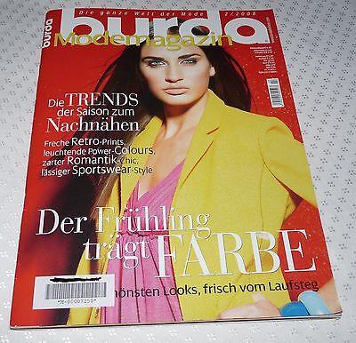 burda Modemagazin 2.2008 unbenutzte Schnittmuster,  der Frühling trägt Farbe  ()