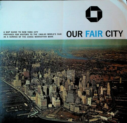 Our Fair City Map Guide to New York City Chase Manhattan Bank Subway Map