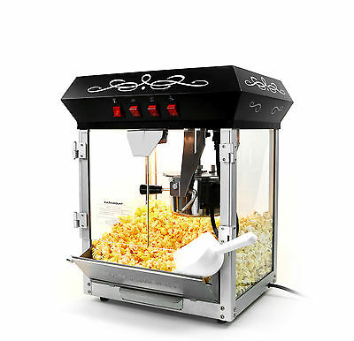 الة صنع الفشار جديد Paramount 6oz Popcorn Maker Machine – New Upgraded 6 oz Hot Oil Popper [Black]
