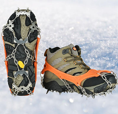 Universal Ice Cleats Snow Anti-Slip Shoe Boot Traction Grip Spike Crampon Covers