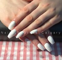 Gel nails/ acrylic nails with tips/ sculpture on forms