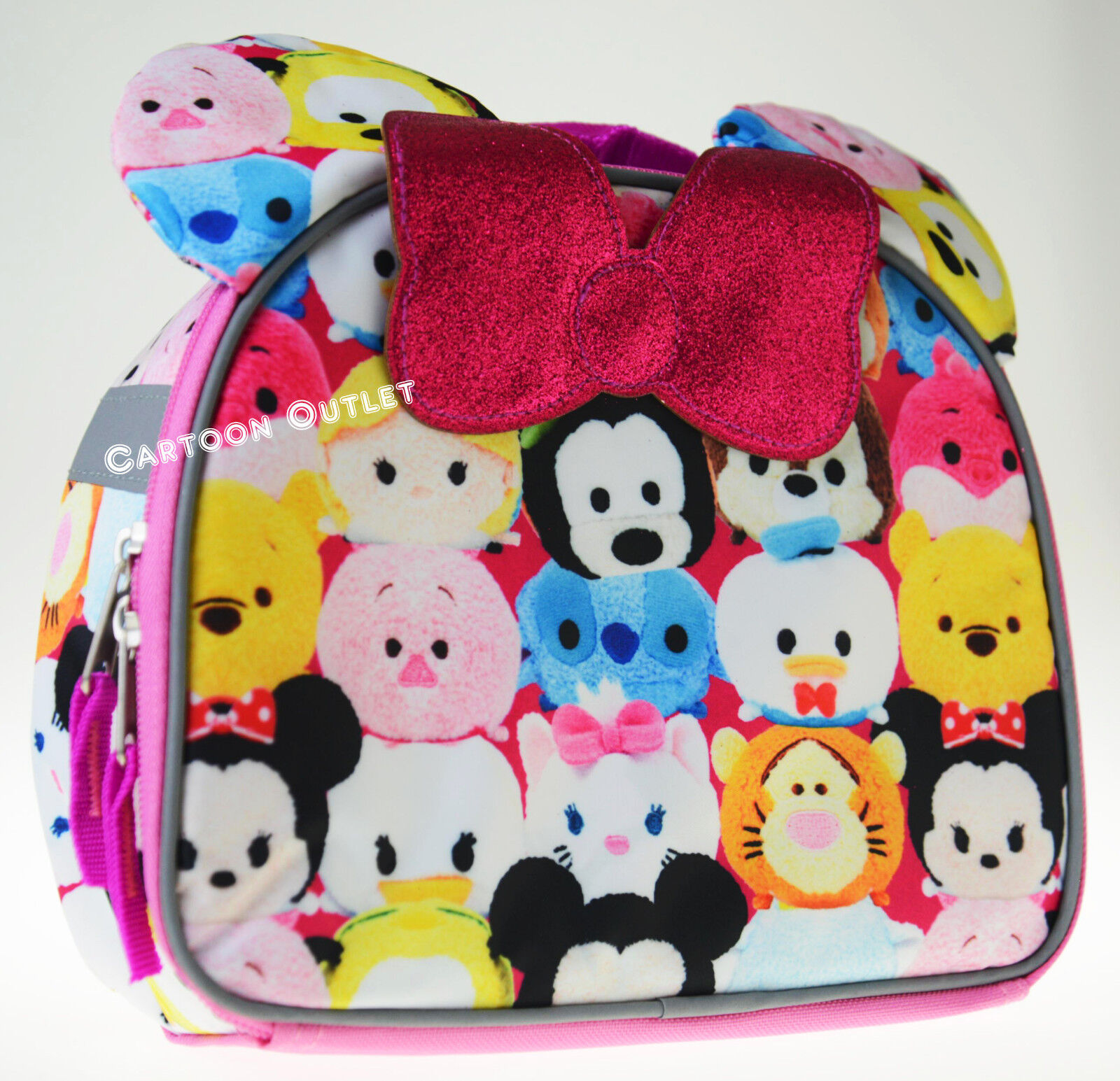 MINNIE MOUSE GIRLS PINK TSUM TSUM LUNCH BAG DISNEY SCHOOL IN