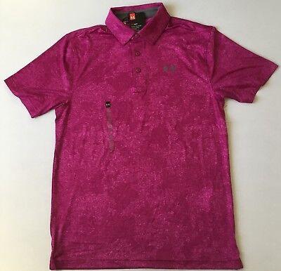 Under Armour Men's Golf Polo Heat Gear 635 Pink 1306331 Size XXL