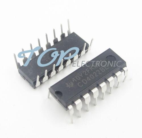 10PCS CD4022BE DIP-16 CD4022 DIP16 TI CMOS Counter Dividers NEW