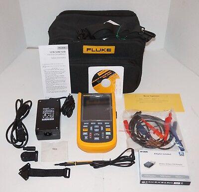 Fluke 123bnas 20mhz Dual Input Industrial Scopemeter Handheld Oscilloscope