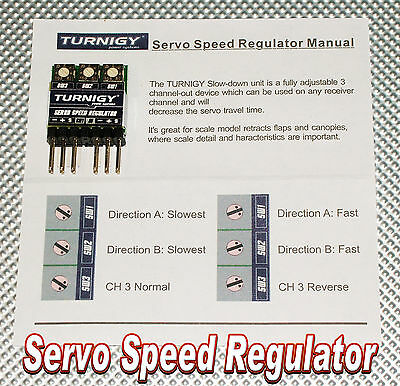 Turnigy 3 Channel Servo Speed/Direction Regulator - UK STOCKED ITEM - AC388