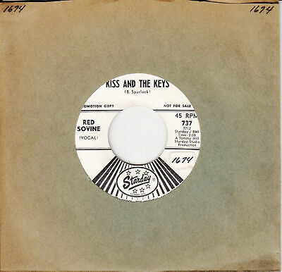 Red Sovine Kiss And The Keys b/w Giddyup Go 45-rpm Record - Giddy Up And Go