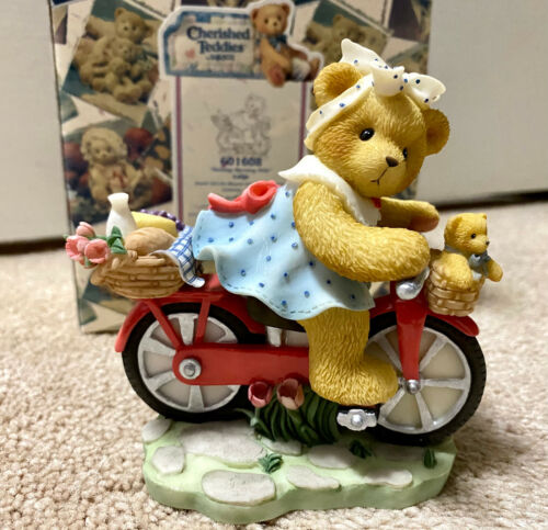 Cherished Teddies 1999 Lotje Morning Ride Dutch Girl Bicycle Exclusive 601608