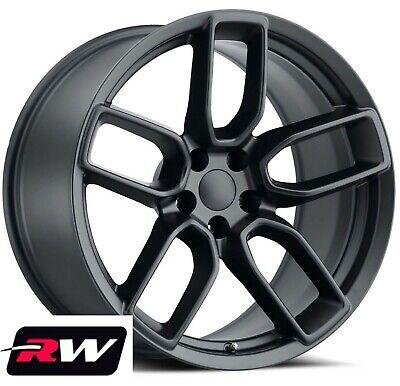 "20 x9.5"" 20 x10.5"" Dodge Challenger OEM Replica Widebody Wheels Satin Black Rims"