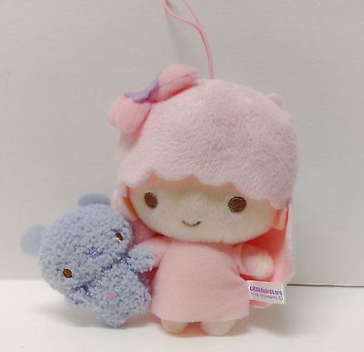 "Little Twin Stars Lala with Cute Tiny Bear Plush 6"" From Japan Sanrio Kawaii !!"