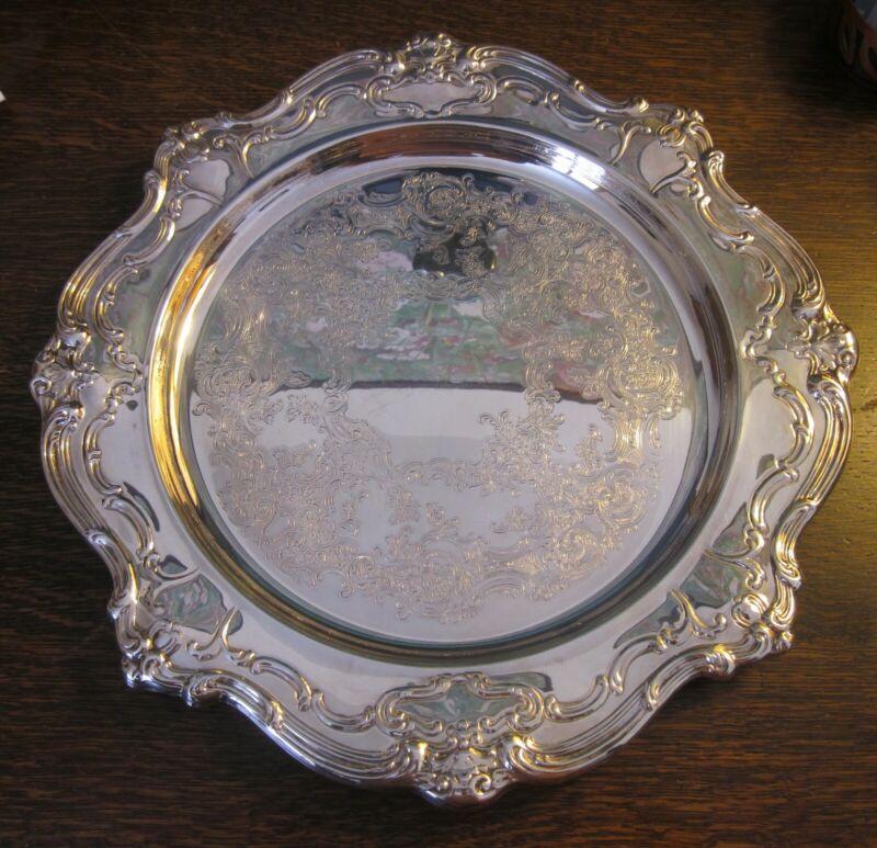 "Gorham ""Chantilly"" Silverplate Platter YC1344"
