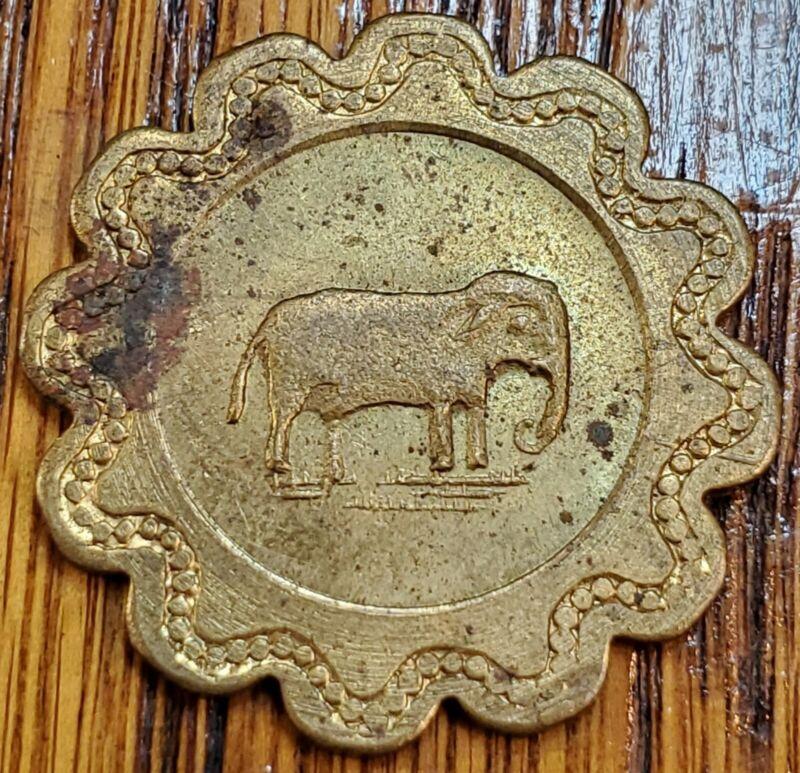 Merchant Trade Token - Elephant Pictorial - Herman Bonnin, Good for 5¢ in trade