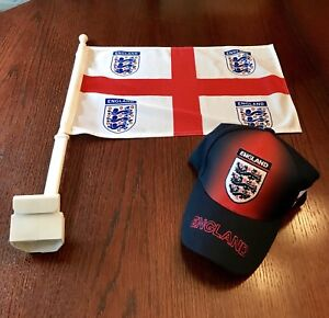 England - Car Flag and cap combo - World Cup