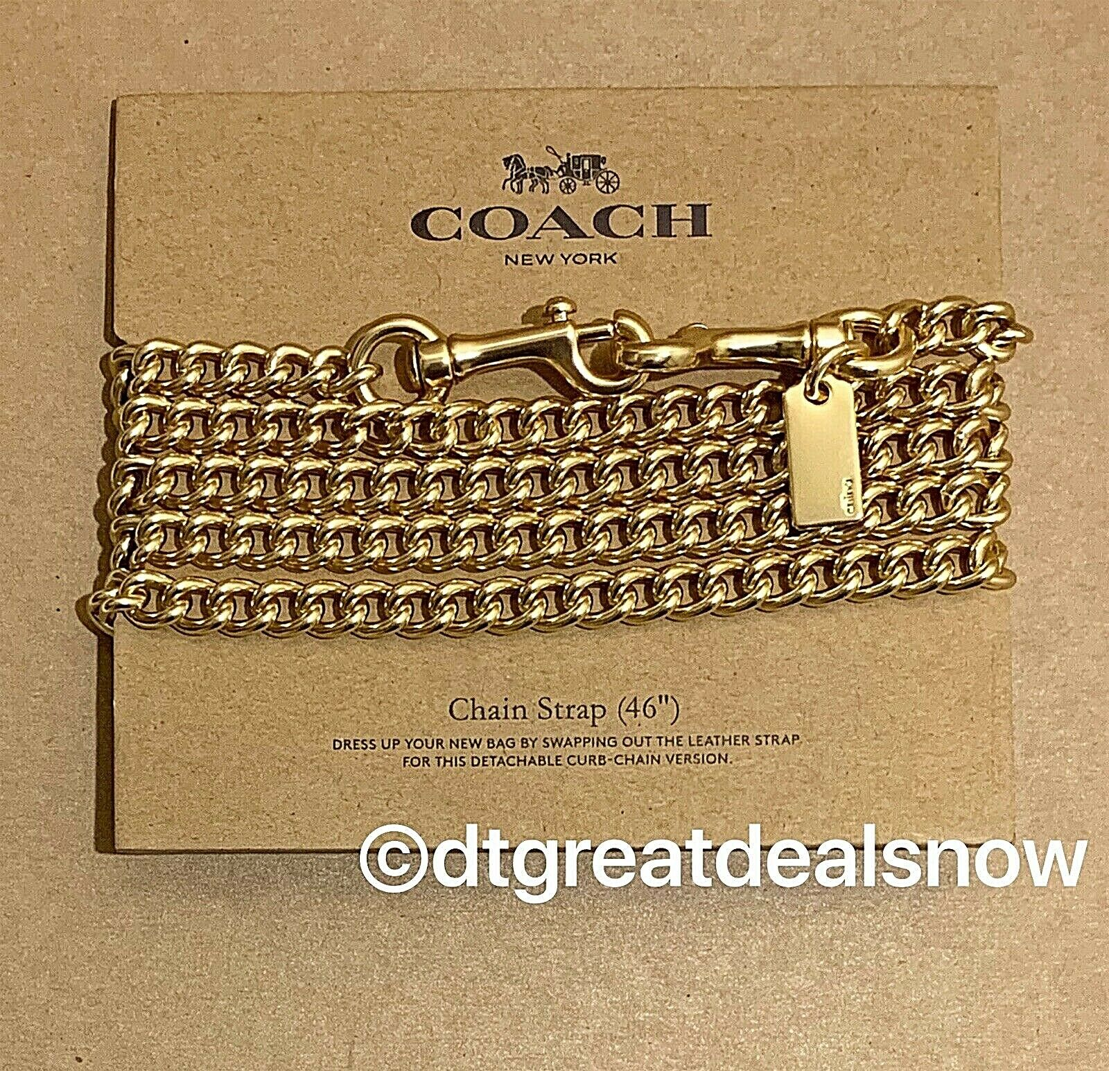 "COACH Gold 46"" Shoulder Crossbody Curb Bag Chain Replacement"
