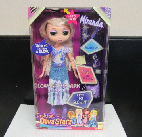 2002  Mattel Diva Starz Miranda Talking Glow in The Dark Fashions Doll Figure