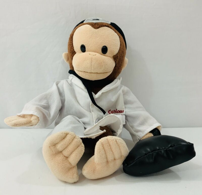 """Curious George The Monkey Doctor 11"""" Plush - Applause"""