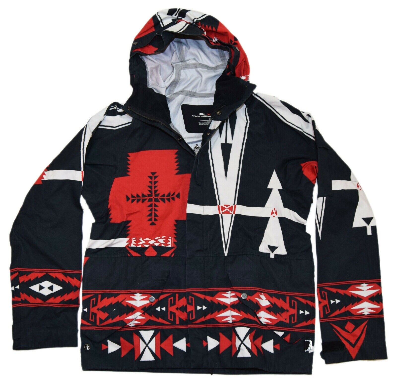 1495-polo-ralph-lauren-rlx-mens-aztec-nordic-hooded-jacket-black-red-small