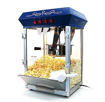 الة صنع الفشار جديد Paramount 8oz Popcorn Maker Machine – New Upgraded 8 oz Hot Oil Popper [Blue]