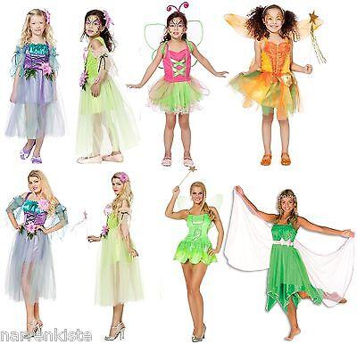 Feen Fee Elfe Tinkerbell Märchen Kostüm Kleid Elfen Damen Waldfee Karneval - Tinkerbell Feen Kostüm