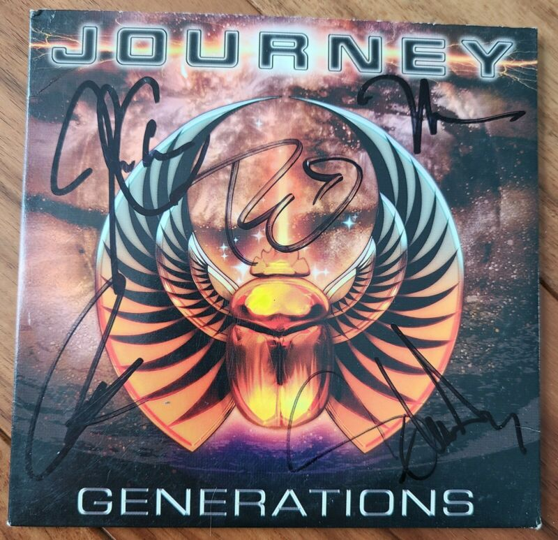 JOURNEY - GENERATIONS CD FULLY SIGNED.  AUTOGRAPHED!