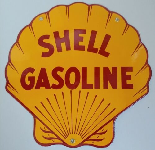 Vintage Gasoline Signs - Shell Oil - Made in the U.S.A.