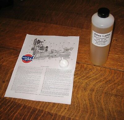Atlas Lathe Machine Oil Iso68 20w Citgo Usa 1 Pint 16 Oz See Description
