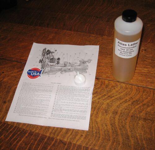 ATLAS LATHE MACHINE OIL ISO68 /20W CITGO USA 1 PINT 16  OZ  See description