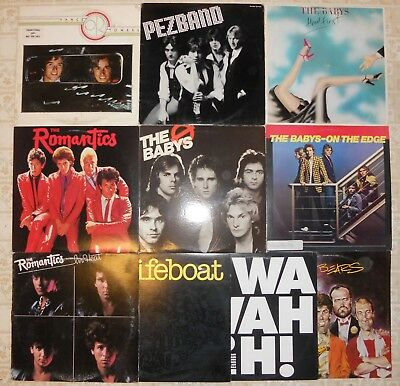"Power Pop, 10 Vinyl Record Lot, 9 LP & 1 12"" EP, All US 1st, 3 Promo Babys Bears"